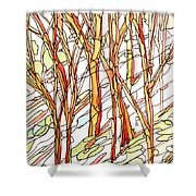 Snow Forest #1 Shower Curtain