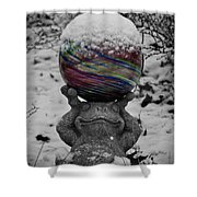 Snow Frog Shower Curtain