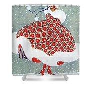 Snow Girl Shower Curtain