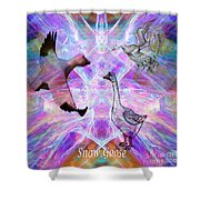 Snow Goose Moon Shower Curtain