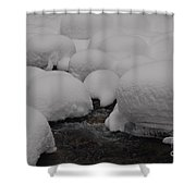 Snow Hats Shower Curtain