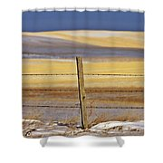 Snow Hills Saskatchewan Shower Curtain