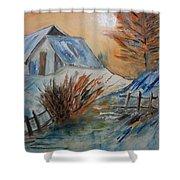Snow House Shower Curtain