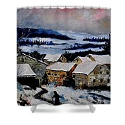 Snow In Ardennes 79 Shower Curtain