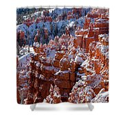 Snow In Bryce Canyon Shower Curtain