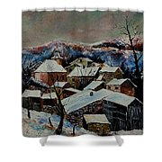 Snow In Laforet 78 Shower Curtain