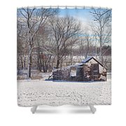 Snow In Plymouth Meeting Shower Curtain
