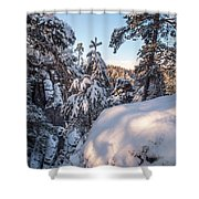 Snow In Saxon Switzerland Shower Curtain