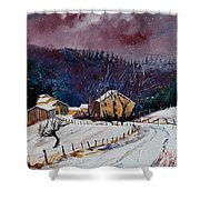 Snow In Sechery Shower Curtain