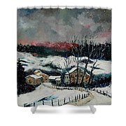 Snow In Sechery Redu Shower Curtain