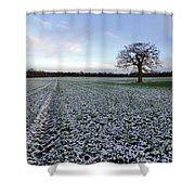 Snow In Surrey Countryside Shower Curtain