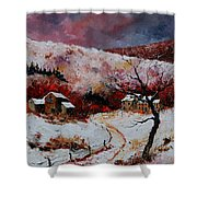 Snow In The Ardennes 78 Shower Curtain