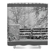 Snow In The Country Shower Curtain