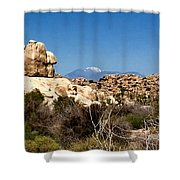 Snow In The Desert Shower Curtain