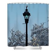 Snow In The Low-country Shower Curtain