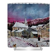Snow Is Falling Shower Curtain