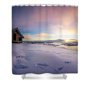 Snow Landscape Shower Curtain