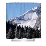 Snow Ledge Shower Curtain