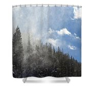 Snow Lift Shower Curtain