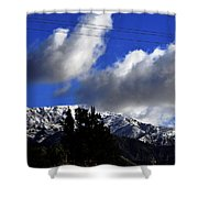 Snow Line In Socal Shower Curtain