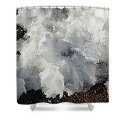 Snow Melting Shapes Shower Curtain
