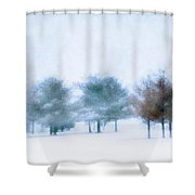 Snow Moon Shower Curtain by Darren Fisher