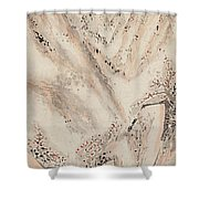 Snow Mountain Ink Painting Shower Curtain