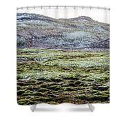 Snow On Moss Shower Curtain