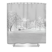 Snow On Pettigrew Shower Curtain by Ben Shields