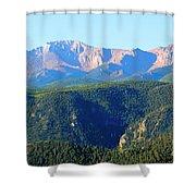 Snow On Pikes Peak Shower Curtain