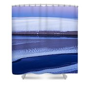 Snow On The Dunes Shower Curtain
