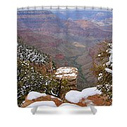 Snow On The Grand Canyon Shower Curtain