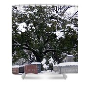 Snow On The Graves Shower Curtain