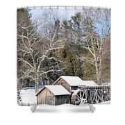 Snow On The Mill 2 Shower Curtain