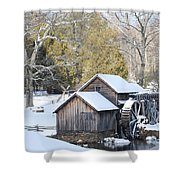 Snow On The Mill Shower Curtain