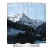Snow On The Mountains Shower Curtain