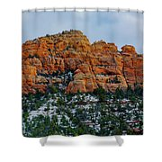 Snow On The Red Rocks Shower Curtain