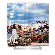 Snow On The Superstitions Shower Curtain