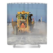 Snow Plowing Shower Curtain