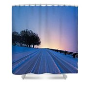 Snow Rizer Shower Curtain