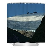 Snow Rock And Shadow Shower Curtain