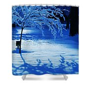 Snow Shadows Shower Curtain