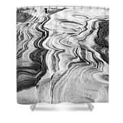 Snow Shapes Viii Shower Curtain