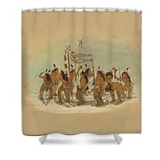 Snow Shoe Dance. Ojibbeway Shower Curtain