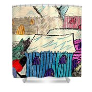 Snow Shovel Shower Curtain