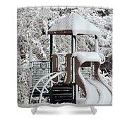Snow Slide Shower Curtain