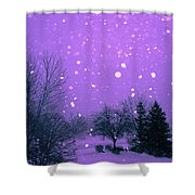 Snow Song Shower Curtain