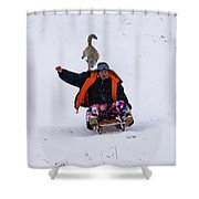 Snow Sports That Can Be Done With Your Dog Shower Curtain