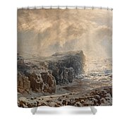 Snow Storm On A Northern Coast Shower Curtain