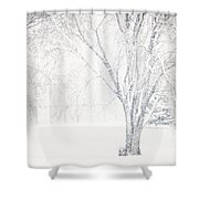 Snow Storm Shower Curtain